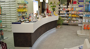 Agencement pour magasins hotels restaurant agencement for Agencement pharmacie meuble